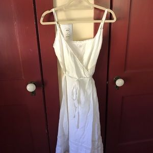 Aritzia white linen dress
